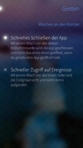 App schließen durch wischen von oben